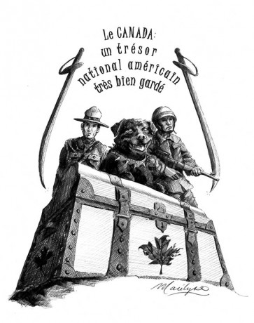 Le Canada: un trésor national américain très bien gardé. Illustration: Marilyse. 2007
