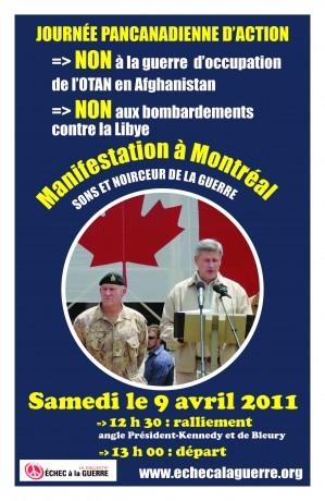 Affiche de la manifestation du 9 avril 2011