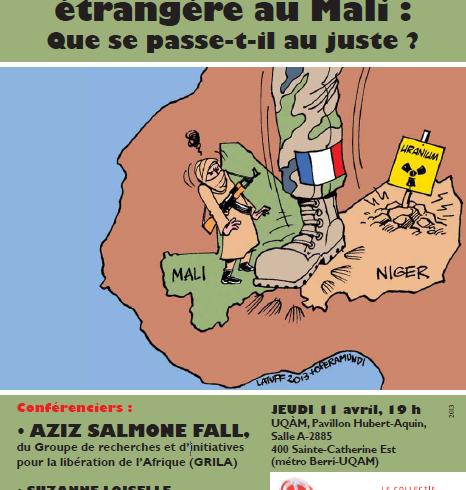 Conférence du 11 avril 2013: « Crise et intervention étrangère au Mali : Que se passe-t-il au juste ? »