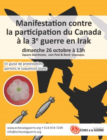 Affiche du Collectif Échec à la guerre pour le 26 octobre 2014