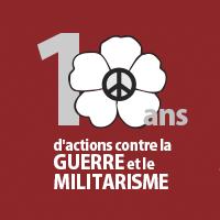 10 ans d'actions contre la guerre et le militarisme: un aperçu de la campagne du coquelicot blanc 2020