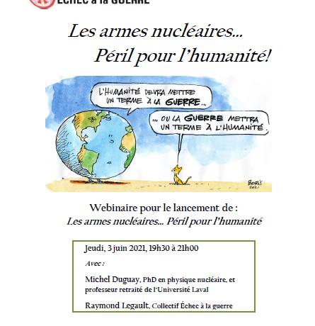 3 juin 2021 – WEBINAIRE : Les armes nucléaires : Péril pour l'humanité
