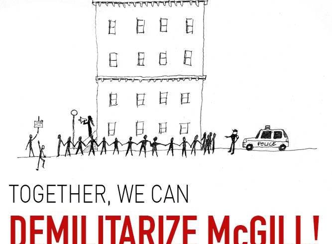 Activités du 10 au 18 novembre 2015 de Demilitarize McGill et autres organismes