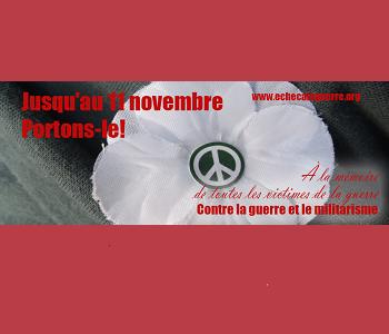 À l'approche du « Jour du souvenir » – Le coquelicot blanc : pour se souvenir aussi des victimes civiles des guerres