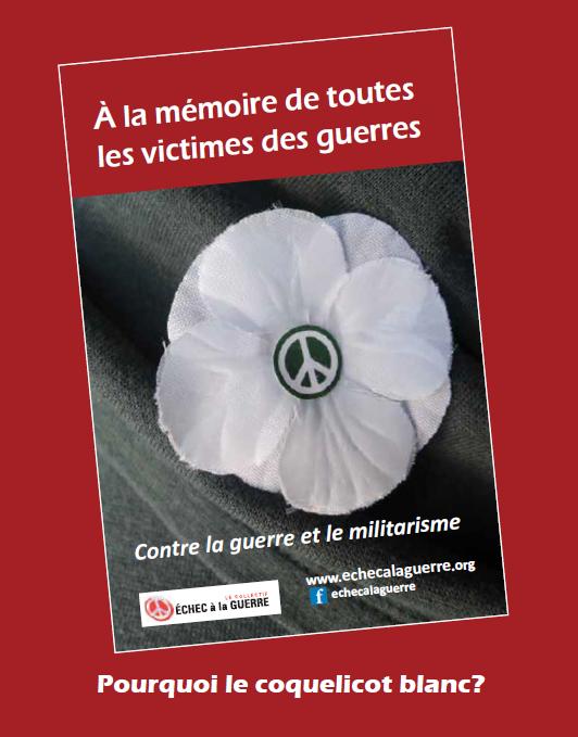 Couverture du cahier explicatif de la campagne du coquelicot blanc