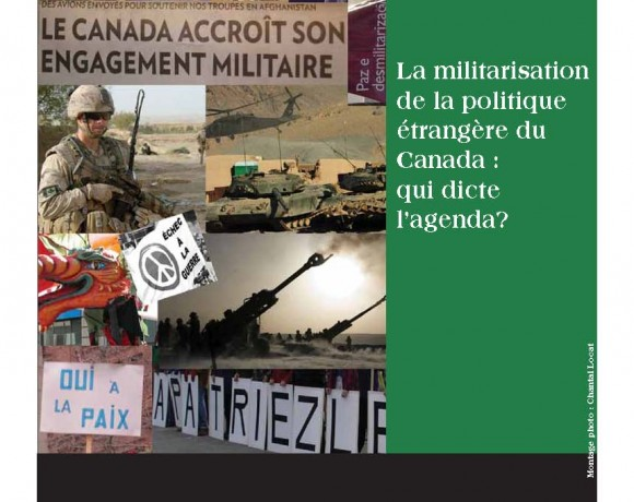La militarisation de la politique étrangère du Canada