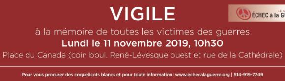 INVITATION: Vigile le 11 novembre 2019